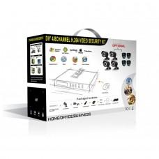 Комплект видеонаблюдения – IP-регистратор и 4 уличные видеокамеры CoVi Security NVK-3003 WI-FI IP KIT