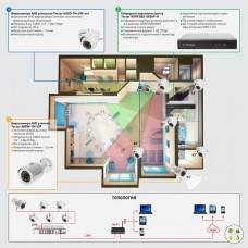 Система AHD видеонаблюдения на 6 камер «под ключ» для объекта социальной инфраструктуры